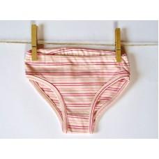 Dívčí spodní kalhotky růžový proužek